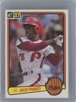 1983 Donruss #525 JULIO FRANCO Rookie RC (Phillies) (Indians)