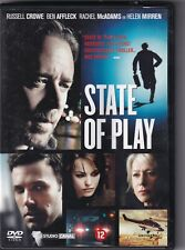 DVD : State Of Play (2009)  Russell Crowe, Rachel McAdams, Ben Affleck