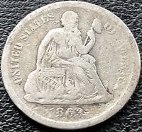 1863 S Seated Liberty Dime 10c San Francisco Rare Date Better Grade #15105