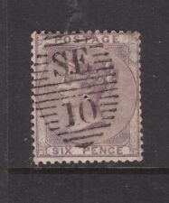 GB: 1856 6d DEEP LILAC EMBLEM SG:69 WITH SUPERB SE 10 POSTMARK