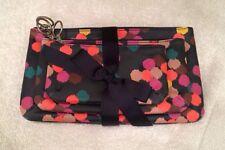 Fossil Key Per Multi Navy Dot Triple Pouch 3 Cosmetic Bag Organizer Makeup