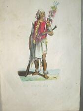 GUERRIER DE TIMOR INDONESIE  gravure 19è