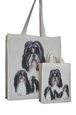 Shih Tzu Dog Adult & Child Dog Treats Packed Lunch etc Cotton Shopping Tote Bag