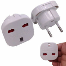 UK To EU Euro Europe European Travel Adaptor Plug 2 Pin Adapter CE Approved HOT
