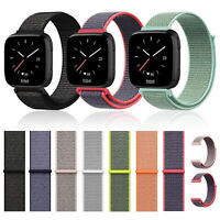 For Fitbit Versa Smart Sport Soft Woven Nylon Watch Band Adjustable Strap US