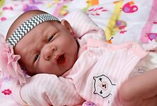 MY PRECIOUS BABY GIRL !!BERENGUER PREEMIE LIFELIKE REBORN DOLL W PACIFIER,EXTRAS