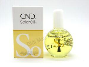CND Essentials SOLAR OIL Nail Cuticle Conditioner Treatment 2.3 oz NEW BOTTLE