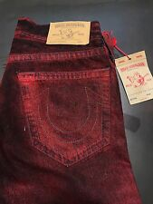 TRUE RELIGION MENS RED SKINNY JEANS SZ 31