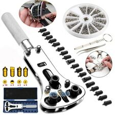 1000Pcs Watch Repair Screws Nut with Watch Case Back Opener Wrench Tools Kit USA