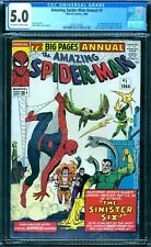 Amazing Spider-Man Annual 1 CGC 5.0 1st Sinister Six  ow/w pages!