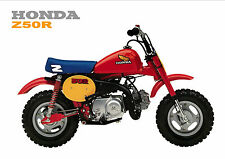 HONDA Poster Classic Z50R Z50 1980's Mini Monkey Bike Suitable to Frame 1984