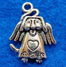 50Pcs. WHOLESALE Tibetan Silver ANGEL DOG Charms Pendants Earring Drops Q1314