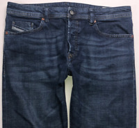 Mens DIESEL Buster Jeans W34 L30 Blue Regular Slim Tapered Wash 084NL STRETCH