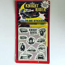 KNIGHT RIDER Color-Me Stickers 1982 Diamond Toymakers Vintage 1980s K.I.T.T.