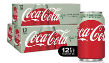 Coca Cola Life Cans, Soft drink soda, Stevia Leaf Sweetened, 12 oz (36 PACK) NEW