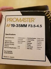Promaster (aka Vivitar Series 1) AF Auto Focus Zoom 19-35mm 3.5-4.5 Canon EF