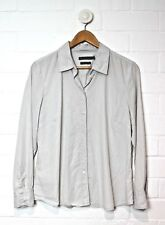 SPORTS CRAFT Light Grey Button Down Long Sleeved Pin-Striped Shirt Size 14