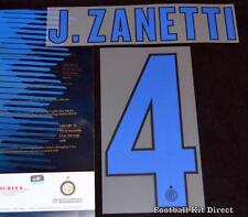 Inter Milan J. Zanetti 4 2013/14 football shirt Nom/Numéro SET SERIE A Away