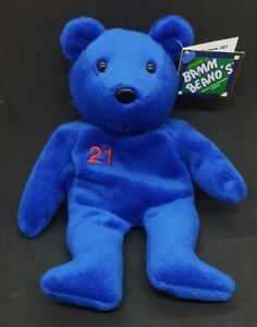 SALVINO'S ROGER CLEMENS 21 BAMM BEANO'S COLLECTIBLE BEAR - MINT with MINT TAGS