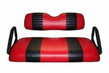 E-Z-Go TXT Golf Cart Custom Seat Cover Set - 2 STRIPE STAPLE ON