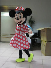New  Minnie Mouse Cartoon Mascot Costume Outfit Fancy Dress EPE