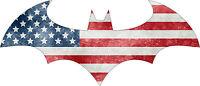 Batman 2005 - US Flag - Vinyl Sticker Decal - Full Color CAD Cut Car logo