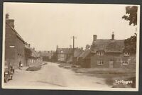 Postcard Lyddington nr Uppingham Rutland village view motor car RP by Stocks