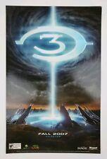Halo 3 Store Display Poster Cardstock 11 x 17 Embossed Metallic Original 2007