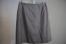 Talbots 100% Silk Brown & White Lined A-Line Mini Skirt Size - 4P