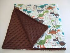 Roar dinosaur, dinos baby,infant,toddler minky/cotton swaddle crib size blanket.