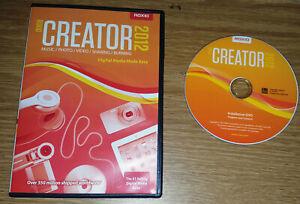 Roxio Creator 2012 Software Windows/PC Digital Media Movies/Pictures/Music Key