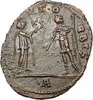 AURELIAN  receiving wreath from woman Authentic Ancient Roman Coin  i40809