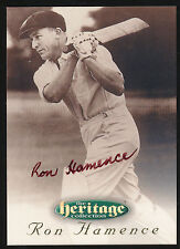 1996 Futera Ron Hamence Signature Heritage Collection Cricket Card no. 6