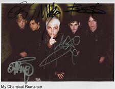 My Chemical Romance SIGNED Photo 1st Generation PRINT Ltd 150 + Certificate / 3