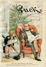 WILLIAM McKINLEY PRESIDENT ELECT READING MAGAZINE CHRISTMAS TREE DECORATIONS