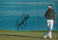 Alvaro QUIROS SIGNED Autograph 12x8 Photo AFTAL COA Dubai Tour Winner GOLF