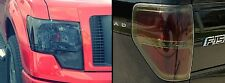 09-14 FORD F150 PRECUT SMOKED TAILLIGHT & HEADLIGHT TINT COVER OVERLAYS FULL SET
