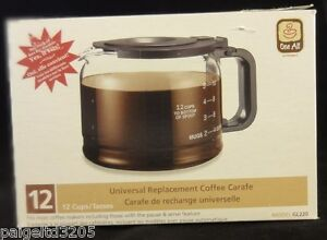 One All by Medelco 12-Cup Universal Replacement Coffee Carafe Model GL220