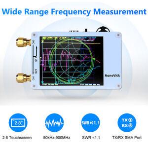 Nanovna 50KHz-900MHz Vector Network Antenna Analyzer VHF VNA HF USB TFT White