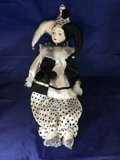Porcelain Jester Doll From Italy 17""