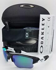 NEW Oakley Flak Jacket XLJ sunglasses Polished Black Jade Iridium 26-265 30 Year