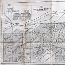 New Listing1877 Belle View Ranch Kern California Map Canals Weirs Original Extremely Rare