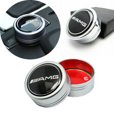 1x New Black AMG Logo I Drive Multimedia Controller Cover Adhesive For Mercedes