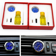 FREE SHIP Car A/C Vent Clip Clock Thermometer Gauge Trim Perfume Refill Storage