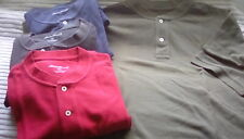 Men's Eddie Bauer short sleeve Henley cotton polo t shirt ~ Size XL