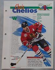 CHRIS CHELIOS BLACKHAWKS CANADIENS #65 HOCKEY CHAMPIONS SPORTS HEROES BOOKLET