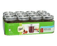 Ball 1440081200 Quilted Crystal Regular Mouth Jelly Jars, 8 Oz, 12-Pack