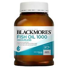 Blackmores Fish Oil 1000mg Odourless 400 Caps Exp 04/2023 Omega-3 EPA DHA