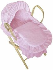Cuddles Collection Dolls Moses Basket With Stand Pink
