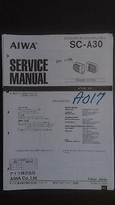 aiwa aiwa sc-a30 Service Manual Original repair book speaker system